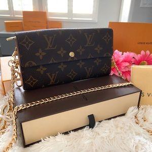 🌟Louis Vuitton Vintage Wallet Small Crossbody Bag